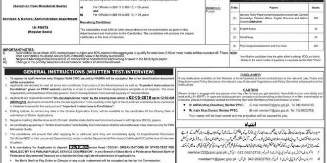 PPSC PMS Syllabus 2019 Punjab PMS Subjects Compulsory, Optional Marks List