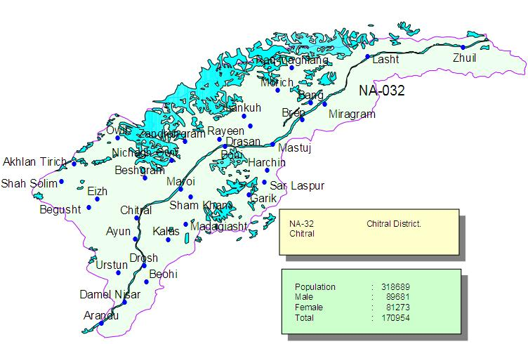 Image result for chitral map