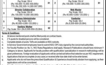 NDU Jobs 2020 National Defence University Islamabad Application Form Advertisement