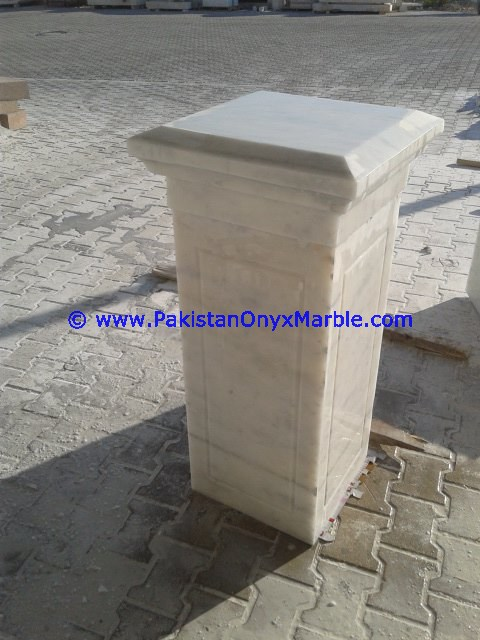 marble columns pillars hollow Ziarat white Carrara White