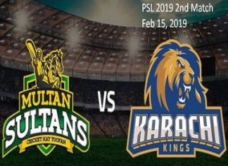 Multan Sultans vs Karachi Kings Live Scores, Highlights - 15th Feb, 2019 - PSL