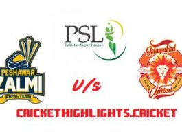 Peshawar Zalmi vs Islamabad United Eliminator 2 Live Scores Highlights - 15th March 2019 - PSL