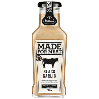 KUHNE Sos Black Garlic Made For Meat do Grilla Dipów i Marynat 235ml