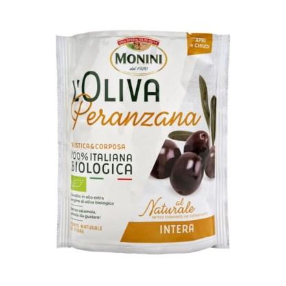 MONINI L'Oliva Oliwki czarne z pestkami Peranzana Naturalne 150g