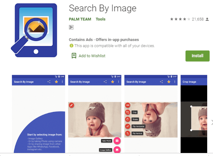 Search By Image, reverse image search engine