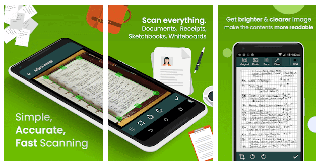 android document scanner, clear scan