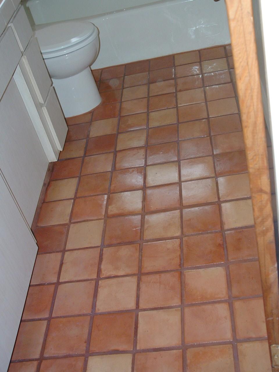 Red Bricks Bathroom Floor Tiles Design in Pakistan  Pak