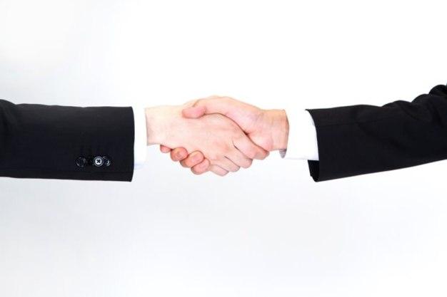 握手をするビジネスマン(手)