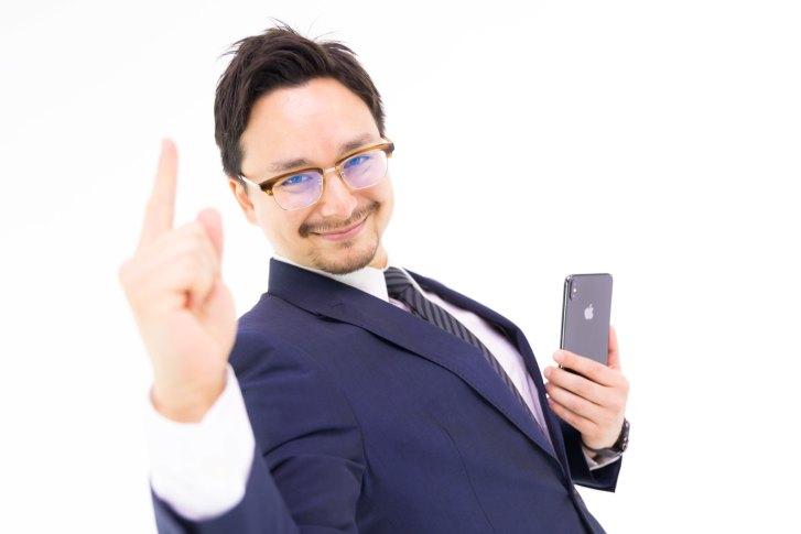 「iPhone XS Max を手に入れたマックス」[モデル:Max_Ezaki]