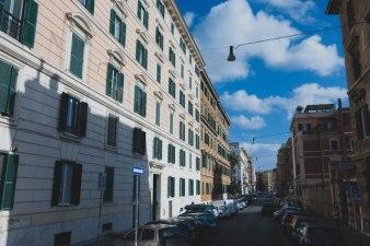 イタリアのマンション街