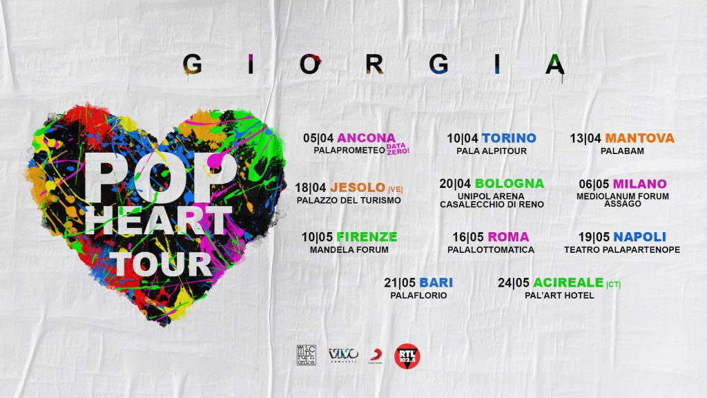 GIORGIA  POP HEART TOUR 2019  Pala Alpitour