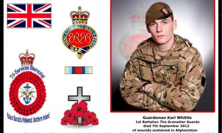 Guardsman Karl Whittle of The Queen's Company, 1st Battalion Grenadier Guards