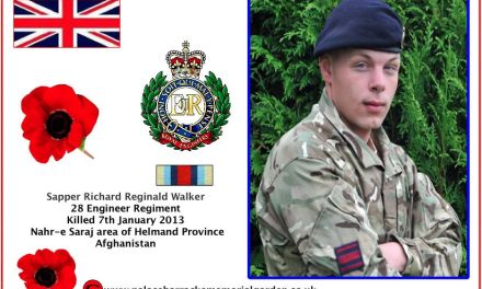 Sapper Richard Reginald Walker Killed in Afghanistan