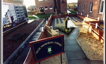 The 321 EOD Memorial Garden in Lisburn.Northern Ireland