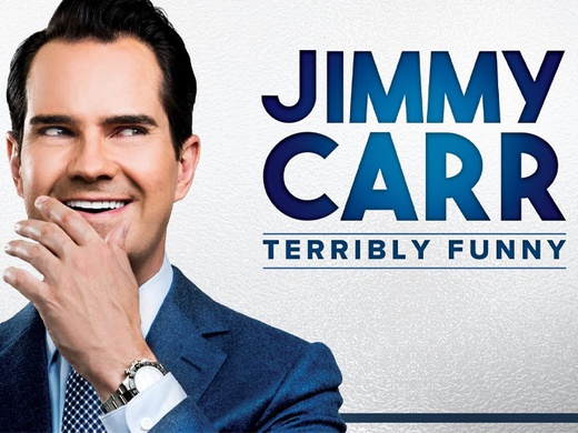 Poster for Jimmy Carr - Terribly Funny stand-up show at the Palace Theatre, London