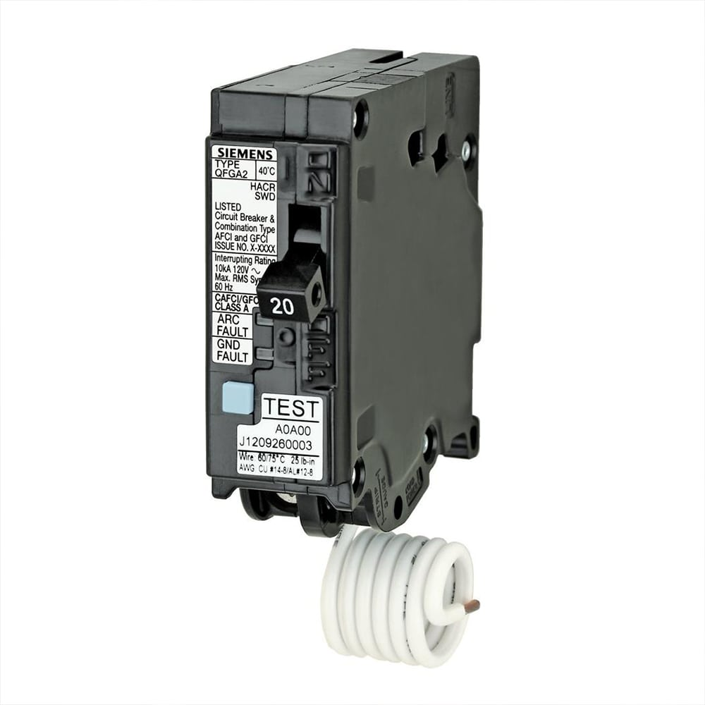 hight resolution of how to wire 20 amp gfci circuit breaker siemens q120df dual function afci gfci