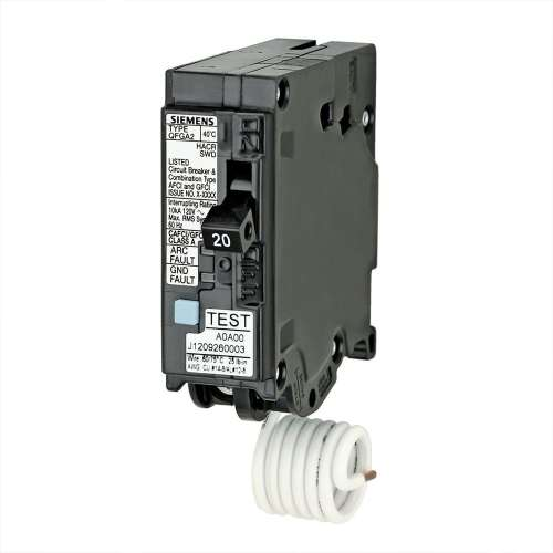 small resolution of how to wire 20 amp gfci circuit breaker siemens q120df dual function afci gfci