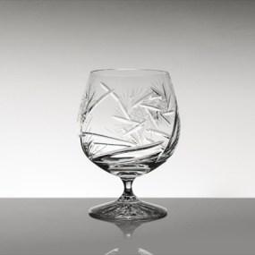 Set pahare coniac mari din cristal Bohemia - Imperial