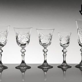Pahare sampanie din cristal Bohemia - Imperial