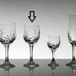 Set pahare vin alb din cristal Bohemia - Mystique