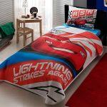 Lenjerie de pat copii TAC Disney - Cars Lightning