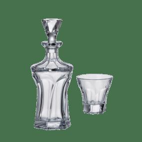 Set Pahare si Sticla Cristal Bohemia pentru Whisky - APOLLO