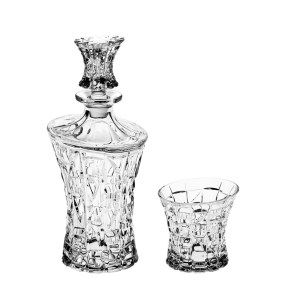 Set sticla si pahare cristal pentru Whisky - PRINCESS