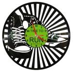 Ceasuri din discuri de vinil TIME TO RUN 1080X1080