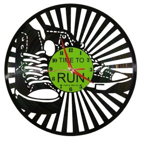Ceasuri din discuri de vinil TIME TO RUN 1080X1080
