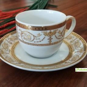 set cesti cafea portelan ESPRESSO sharim gold