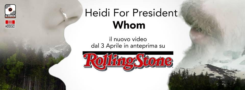 """In anteprima nazionale su Rollingstone.it il video che anticipa il primo album del gruppo palagianese """" Heidi For president"""""""