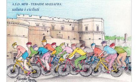 7^ tappa Giro d'Italia Castrovillari-Alberobello. Massafra saluta i ciclisti.