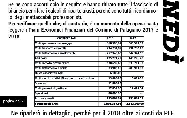 "Casa Palagiano: "" Nessuna riduzione TARI per il 2018!"""