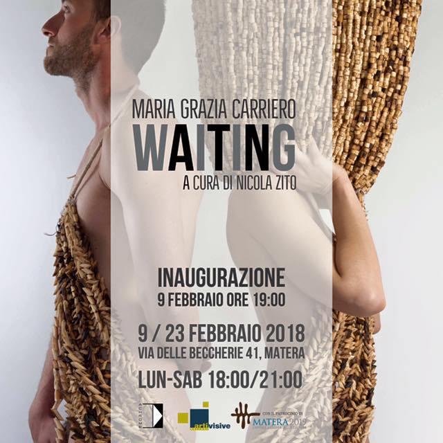 """L'artista palagianese Maria Grazia Carriero espone  presso la """"Arti visive Gallery"""", una delle più importanti e storiche gallerie della Basilicata, evento patrocinato dalla Fondazione Matera 2019."""