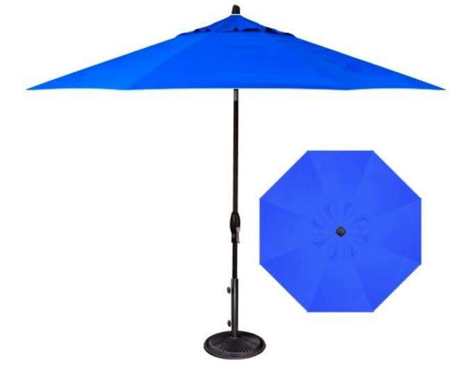 cobalt blue octagonal patio umbrella