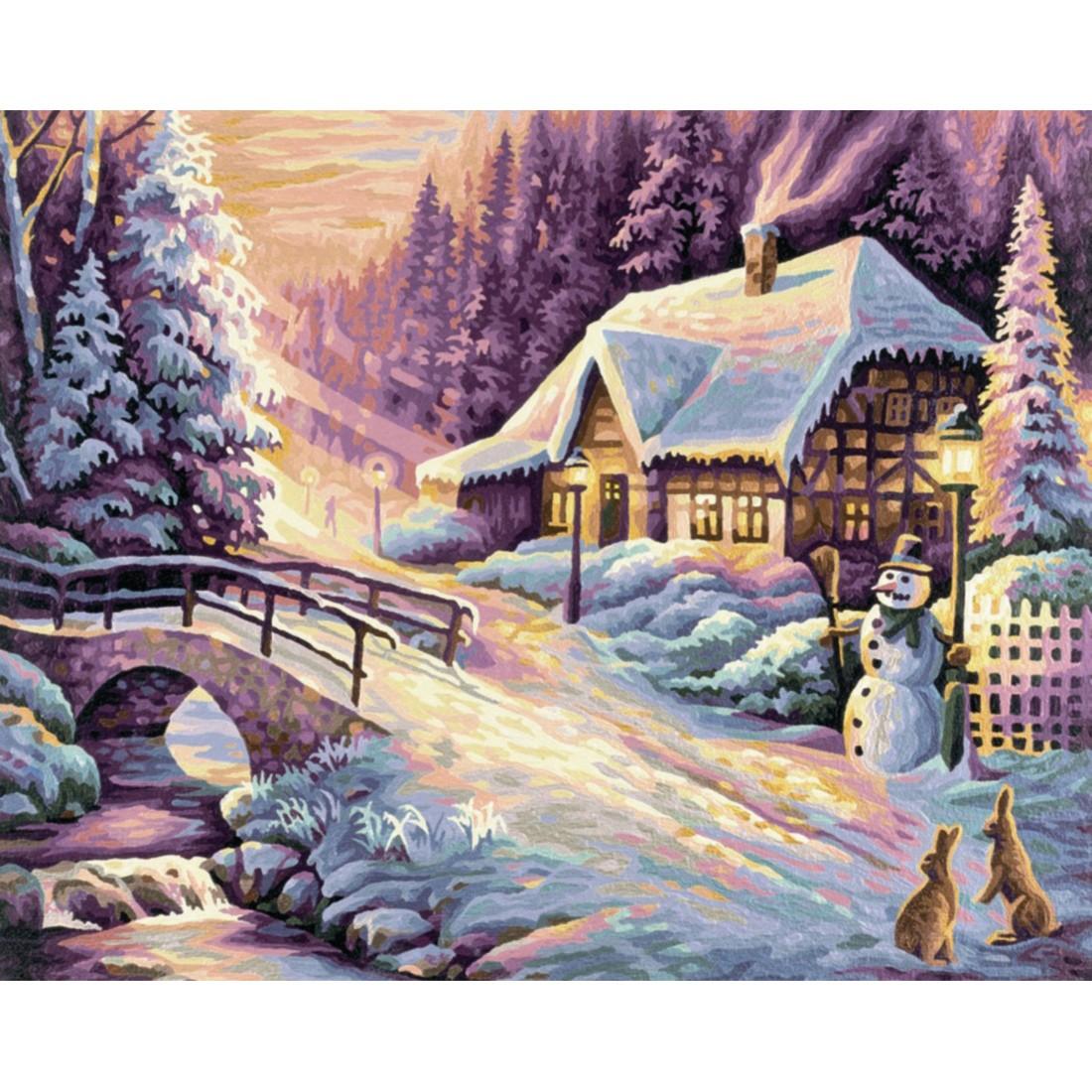 Der Winter Schipper Malen nach Zahlen Vorlagen 2949