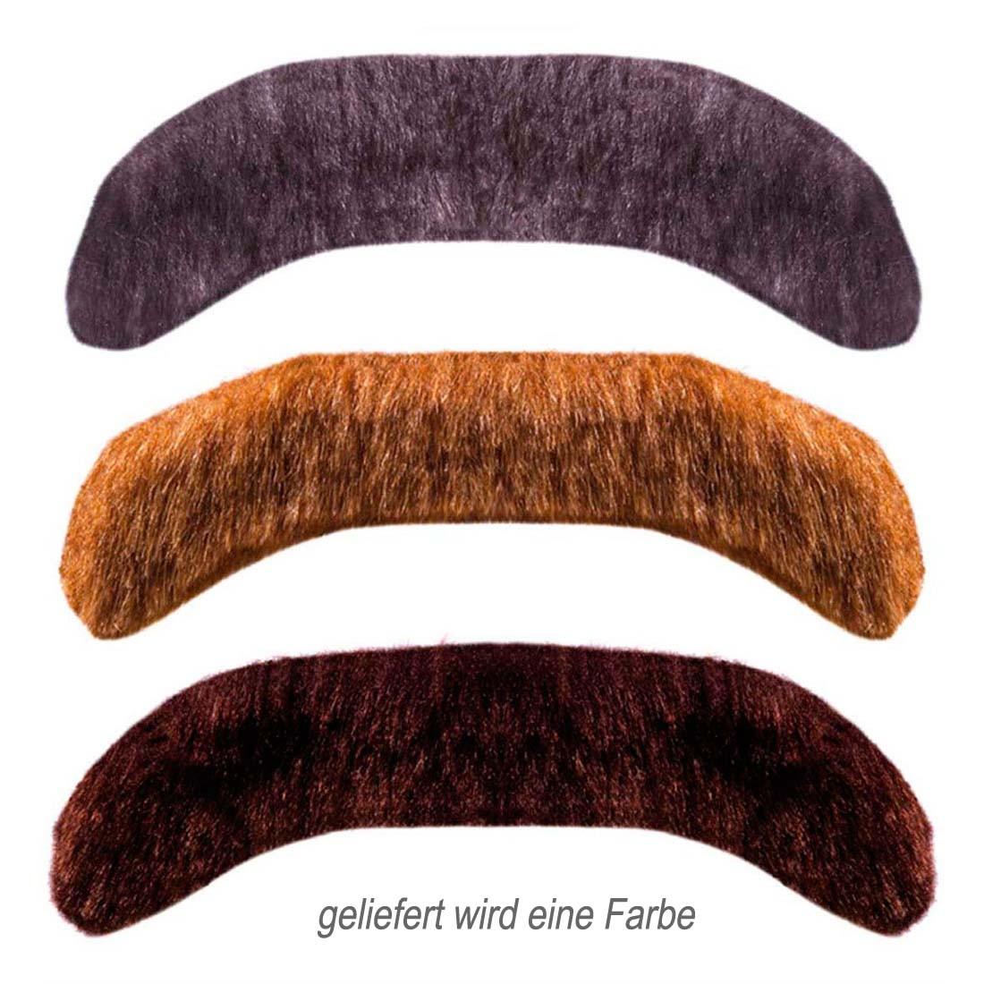Gentleman Schnurrbart 3 Farben Oliba Fasching Bart. 2.99