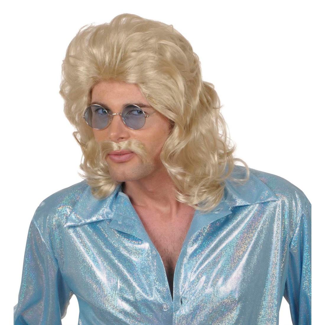 Perücke Herren Gigolo 70er Jahre Blond Mit Bart 16 99 €