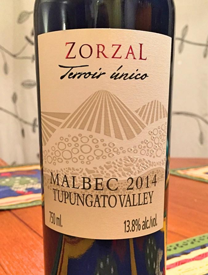 Zorzal Terroir Unico Malbec 2014 Label