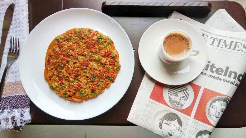 Spicy Masala Oats Omelette Recipe