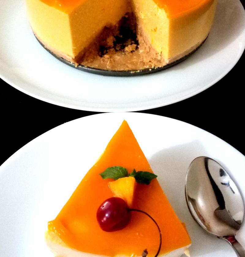 Mango Cheese Cake | No Bake-Mango Cheese Cake