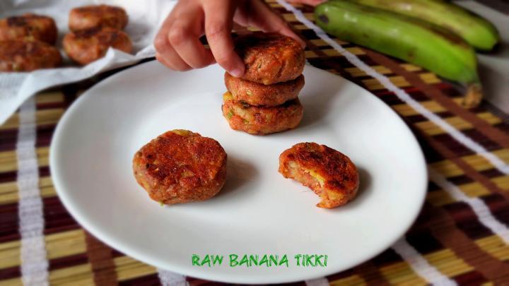 raw banana tikki