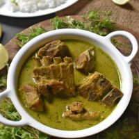 Mutton Chops | Karnataka Style Mutton Green Curry