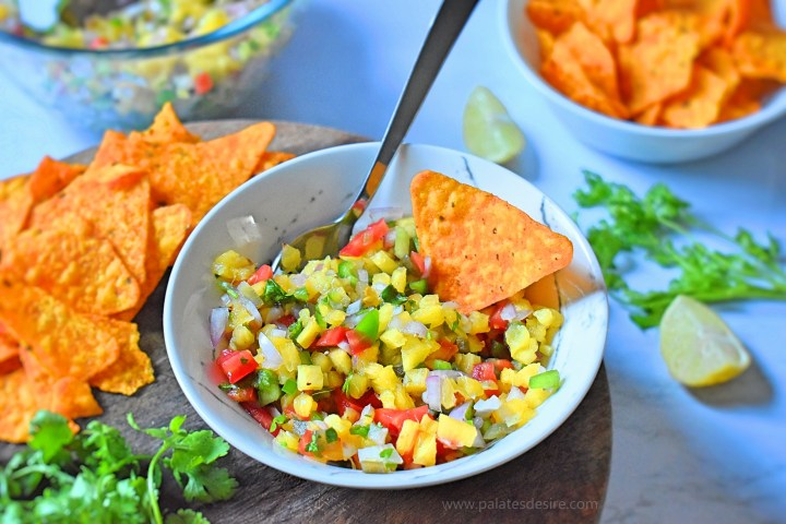 Pineapple Salsa Recipe | How to make best-ever spicy pineapple salsa