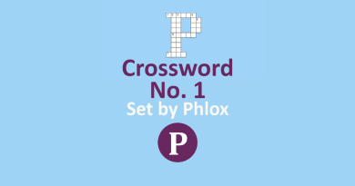 Crossword No. 1 - Set by Phlox