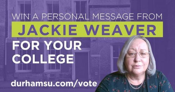 Jackie Weaver revealed as prize for the college with highest SU election voter turnout