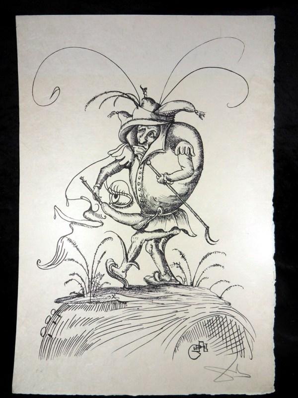 Salvador Dali Big Original Lithograph Hand-signed