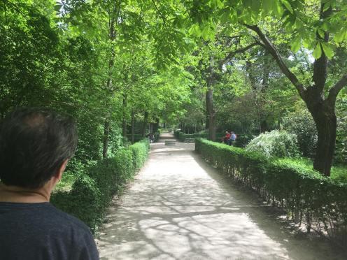 Du no parque El Retiro