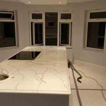 marble look quartz worktops