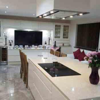 quartz kitchen island